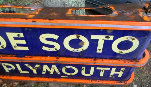 Viewing a thread - Vintage Plymouth Desoto sign!