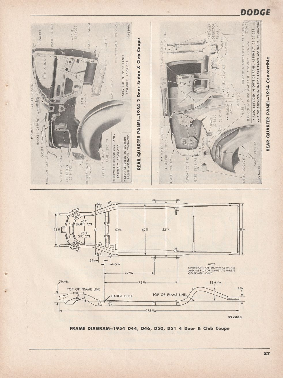 Viewing A Thread 1954 58 Dodge Frame Dimensions Starting Circuit Diagram For The Hudson Wasp