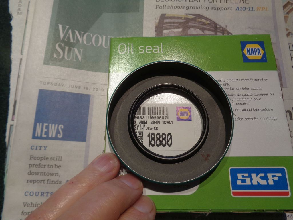 Viewing a thread - 56 Fury differential pinion seal