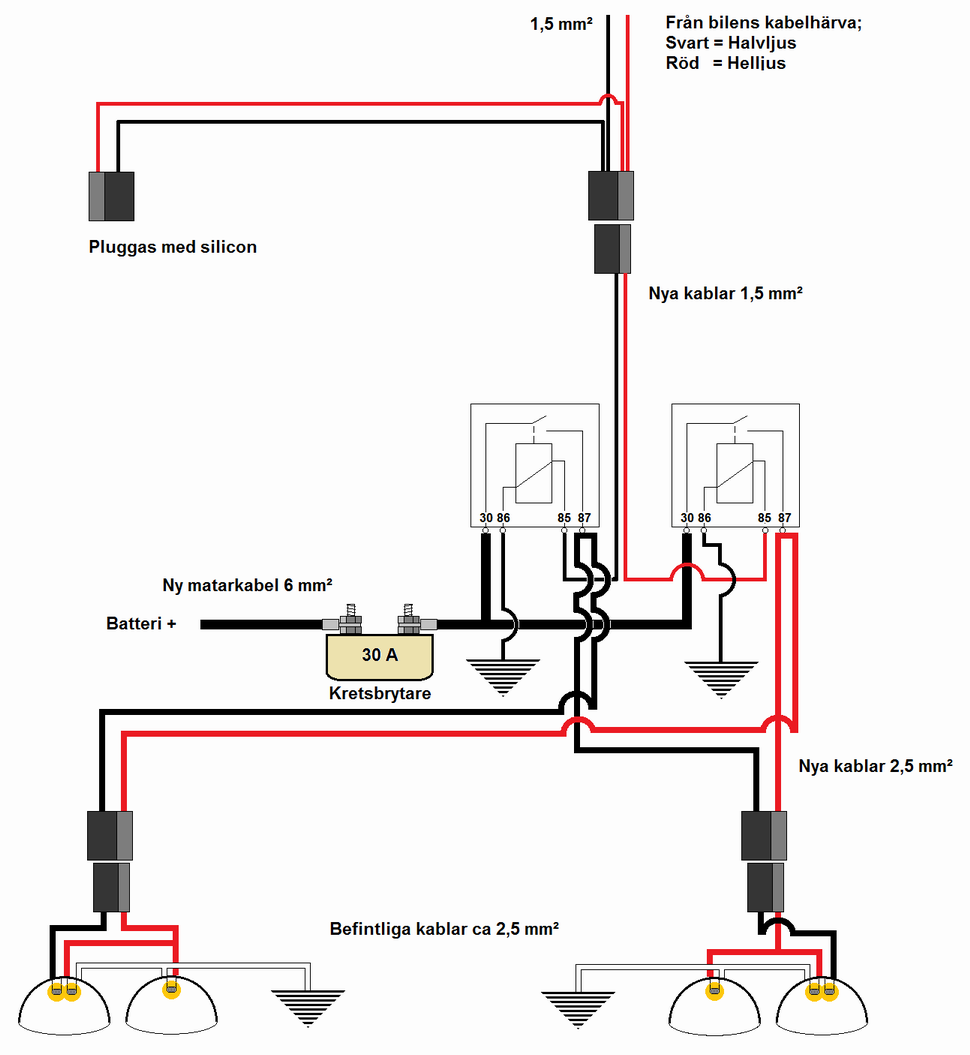 Viewing a thread - Headlamp relays wiring diagram for 1960 ... on